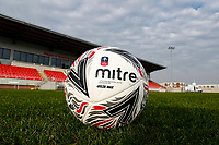 8th November 2020; SkyEx Community Stadium, London, England; Football Association Cup, Hayes and Yeading United versus Carlisle United; Official Mitre Delta Max The Emirates FA Cup football on the pitch