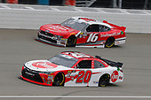 #20: Christopher Bell, Joe Gibbs Racing, Toyota Camry Rheem and #16: Ryan Reed, Roush Fenway Racing, Ford Mustang Drive Down A1C Lilly Diabetes