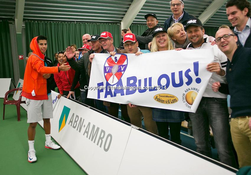 18-01-14,Netherlands, Rotterdam,  TC Victoria, Wildcard Tournament,Fabian van der Lans (NED)<br /> Photo: Henk Koster