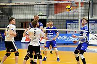 24-03-2021: Volleybal: Amysoft Lycurgus v Sliedrecht Sport: Groningen , Lycurgus speler Bennie Tuinstra ziet de bal in het net landen