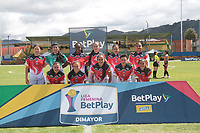 CHIA- COLOMBIA, 12-07-2021: Fortaleza  y Llaneros en partido por la fecha 1 como parte de la Liga Femenina BetPlay DIMAYOR 2020 jugado en el estadio Villa Olímpicia de Chía  / Fortaleza and Llaneros in match for the date 1 as part of Women's BetPlay DIMAYOR 2021 League, played at Villa Olimpica de Chia stadium . Photo: VizzorImage / Felipe Caicedo / Staff