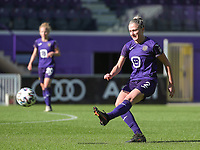 Rosalia Marine (2) of Standard  in action during a female soccer game between RSC Anderlecht Dames and Standard Femina de Liege on the sixth matchday of the 2021 - 2022 season of Belgian Womens Super League , Saturday 9 th of October 2021  in Brussels , Belgium . PHOTO SPORTPIX   SEVIL OKTEM