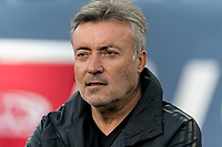 FOXBOROUGH, MA - SEPTEMBER 29: Domenac Torrent, coach of New York City FC during a game between New York City FC and New England Revolution at Gillette Stadium on September 29, 2019 in Foxborough, Massachusetts.