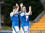 St Johnstone v Hamilton Accies…23.09.17…  McDiarmid Park… SPFL<br />Paul Paton and Steven MacLean applaud the fans at full time<br />Picture by Graeme Hart. <br />Copyright Perthshire Picture Agency<br />Tel: 01738 623350  Mobile: 07990 594431