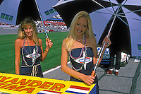 Marcos Grid Girls..2002 Rolex 24 at Daytona, Daytona International Speedway, Daytona Beach, Florida USA Feb. 2002.(Sports Car Racing)