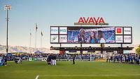 SAN JOSÉ CA - JULY 27: National Anthem during a Major League Soccer (MLS) match between the San Jose Earthquakes and the Colorado Rapids on July 27, 2019 at Avaya Stadium in San José, California.