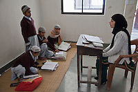 Madrasa Student Replies to Teacher's Question in English Class, Madrasa Imdadul Uloom, Dehradun, India.