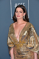 SANTA MONICA, USA. January 12, 2020: Anne Hathaway at the 25th Annual Critics' Choice Awards at the Barker Hangar, Santa Monica.<br /> Picture: Paul Smith/Featureflash