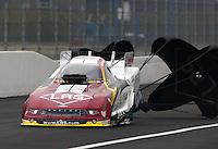 Feb 9, 2014; Pomona, CA, USA; NHRA funny car driver Tim Wilkerson during the Winternationals at Auto Club Raceway at Pomona. Mandatory Credit: Mark J. Rebilas-