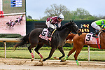 HOT SPRINGS, AR - APRIL 13:  Apple Blossom Handicap at Oaklawn Park on April 13, 2018 in Hot Springs, Arkansas.#6 Streamline with jockey Gary L. Stevens.  (Photo by Ted McClenning/Eclipse Sportswire/Getty Images)