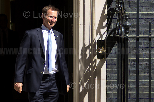Jeremy Hunt MP (Secretary of State for Health).<br /> <br /> London, 19/07/2016. First Cabinet meeting at 10 Downing Street (after the EU Referendum and consequent David Cameron's resignation) for the new Prime Minister Theresa May and her newly formed Conservative Government.<br /> <br /> For more information about the Cabinet Ministers: https://www.gov.uk/government/ministers