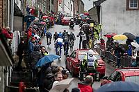 the early breakaway group up the Côte de Saint-Roch<br /> <br /> 105th Liège-Bastogne-Liège 2019 (1.UWT)<br /> One day race from Liège to Liège (256km)<br /> <br /> ©kramon
