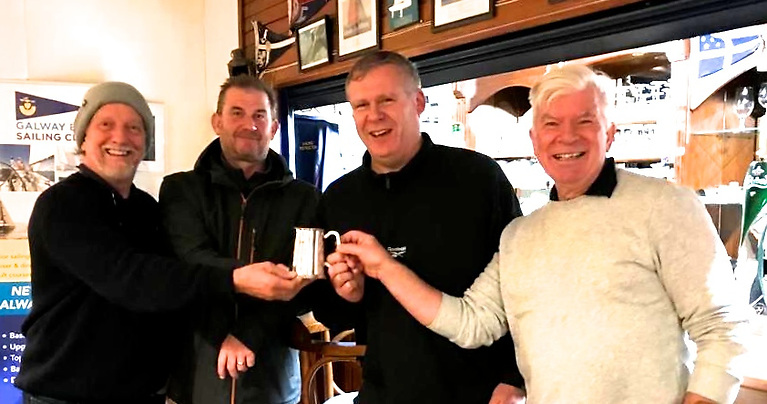 Successful end to the summer season – the crew of Woofer who came through in the last race to win the ECHO Division in the Galway Bay SC Aquabroker Series are John Preisler, Nigel Moss, Ronan O'Conghaile and Professor Michael O'Sullivan