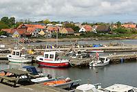 Hafen von Årsdale auf der Insel Bornholm, Dänemark, Europa