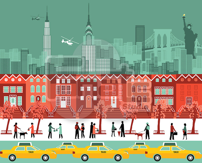 Buildings in a city, New York City, New York State, USA