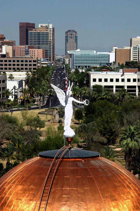 Arizona Capitol Dome View from Governors office. <br /> Photo by AJ Alexander