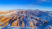 Behind-the-Rocks proposed Wilderness in winter, near Moab, Utah, Colorado River, La Sal Mountains beyond