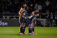 28th September 2021, Parc des Princes, Paris, France: Champions league football, Paris-Saint-Germain versus Manchester City:  The PSG players line-up