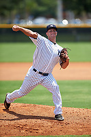GCL Yankees West pitcher Bryan Blanton (51) delivers a pitch on the side field during the second game of a doubleheader against the GCL Yankees East on July 19, 2017 at the Yankees Minor League Complex in Tampa, Florida.  GCL Yankees West defeated the GCL Yankees East 3-1.  (Mike Janes/Four Seam Images)