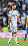 Carlos Henrique Casemiro of Real Madrid reacts during their La Liga 2017-18 match between Real Madrid and Valencia CF at the Estadio Santiago Bernabeu on 27 August 2017 in Madrid, Spain. Photo by Diego Gonzalez / Power Sport Images