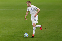 ST PAUL, MN - NOVEMBER 4: Robert Beric #27 of Chicago Fire FC controls the ball during a game between Chicago Fire and Minnesota United FC at Allianz Field on November 4, 2020 in St Paul, Minnesota.