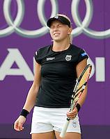 16-6-09, Rosmalen, Tennis, Ordina Open 2009,   Michaella Krajicek is gefrustreerd ze verliest de tweede ronde