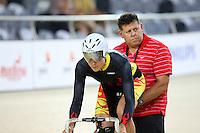 Waikato BOP's Jaime Nielsen at the BikeNZ Elite & U19 Track National Championships, Avantidrome, Home of Cycling, Cambridge, New Zealand, Sunday, March 16, 2014. Credit: Dianne Manson