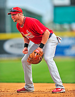 1 March 2009: St. Louis Cardinals' outfielder Chris Duncan in action during a Spring Training game against the Florida Marlins at Roger Dean Stadium in Jupiter, Florida. The Cardinals outhit the Marlins 20-13 resulting in a 14-10 win for the Cards. Mandatory Photo Credit: Ed Wolfstein Photo