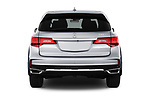 Straight rear view of a 2020 Acura MDX Standard 5 Door SUV stock images