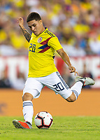 Tampa, FL - Thursday, October 11, 2018: Juan Quintero during a USMNT match against Colombia.  Colombia defeated the USMNT 4-2.