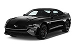2018 Ford Mustang GT 2 Door Coupe angular front stock photos of front three quarter view