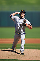 Salt River Rafters pitcher Zach Jemiola (77), of the Colorado Rockies organization, during a game against the Surprise Saguaros on October 17, 2016 at Surprise Stadium in Surprise, Arizona.  Surprise defeated Salt River 3-1.  (Mike Janes/Four Seam Images)