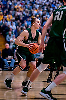 12 March 2019: Binghamton University Bearcat Guard J.C. Show, a Graduate from Clarks Summit, PA, in action during the America East Semifinal Men's Basketball playoff game against the University of Vermont Catamounts at Patrick Gymnasium in Burlington, Vermont. The top-seeded Catamounts defeated the Bearcats 84-51, ending Binghamton's 2018-2019 season. Mandatory Credit: Ed Wolfstein Photo *** RAW (NEF) Image File Available ***