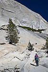Rock climbers on the Tioga Road, Yosemite National Park, CA, USA