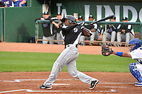 Wesley Jones (34) of the Grand Junction Rockies at bat against the Ogden Raptors during Opening Night of the Pioneer League Season on June 16, 2014 at Lindquist Field in Ogden, Utah. (Stephen Smith/Four Seam Images)