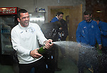 St Johnstone v Dundee United....17.05.14   William Hill Scottish Cup Final<br /> Asst Manager Callum Davidson sprays champagne<br /> Picture by Graeme Hart.<br /> Copyright Perthshire Picture Agency<br /> Tel: 01738 623350  Mobile: 07990 594431