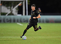 LAKE BUENA VISTA, FL - JULY 18: Tristan Blackmon 27 of LAFC runs with the ball during a game between Los Angeles Galaxy and Los Angeles FC at ESPN Wide World of Sports on July 18, 2020 in Lake Buena Vista, Florida.