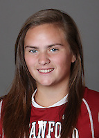 STANFORD, CA - OCTOBER 29:  Rebecca Hanley of the Stanford Cardinal women's lacrosse team poses for a headshot on October 29, 2009 in Stanford, California.