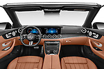 Stock photo of straight dashboard view of 2021 Mercedes Benz E-Class AMG-Line 4 Door Convertible Dashboard
