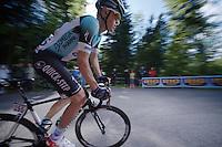 2013 Giro d'Italia.stage 10..Serge Pauwels (BEL) climbing the Sella Nevea.
