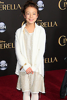 """LOS ANGELES - MAR 1:  Aubrey Anderson-Emmons at the """"Cinderella"""" World Premiere at the El Capitan Theater on March 1, 2015 in Los Angeles, CA"""