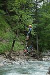 Austria, Vorarlberg, Bregenzerwald, Schroecken: climbing school for kids and teenagers