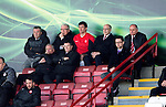 Hamilton Academical St Johnstone....04.04.15<br /> Martin Canning watches the game from the stands aftyer being sent off<br /> Picture by Graeme Hart.<br /> Copyright Perthshire Picture Agency<br /> Tel: 01738 623350  Mobile: 07990 594431
