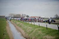 peloton through De Moeren<br /> <br /> 3 Days of De Panne 2015