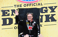 Apr. 29, 2012; Baytown, TX, USA: NHRA top fuel dragster driver Doug Kalitta during the Spring Nationals at Royal Purple Raceway. Mandatory Credit: Mark J. Rebilas-