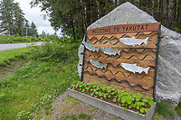 Coastal town of Yakutat, Southeast, Alaska