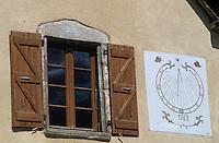 Europe/France/Midi-Pyrénées/09/Ariège/Couserans/Antras: Cadran solaire