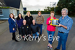 Unveiling the new Defibrillator at Scoil Nuachabháil Ballymac on Tuesday evening, which was gifted by the Ballymac Vintage Committee to the community of Ballymac. The eircode for the defibrillator is V92KX44. Front l to r: Mary Lynch (Ballymac Vintage Committee) and Mick Bolger (Principal of Scoil Nuachabháil Ballymac). Kneeling l to r: Paul Horan and George Glover. Standing l to r: Mary Brosnan, Corina Mangan, Trish Horan and Joan Glover