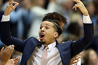 CHAPEL HILL, NC - JANUARY 4: Cole Anthony #2 of the University of North Carolina tries to get the crowd to cheer during a game between Georgia Tech and North Carolina at Dean E. Smith Center on January 4, 2020 in Chapel Hill, North Carolina.