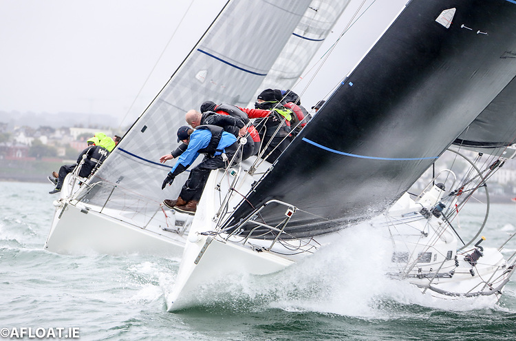 The Howth Yacht Club J109 Outrajeous (Richard Colwell and John Murphy) was the IRC winner of Saturday's first ISORA coastal training event after a results correction